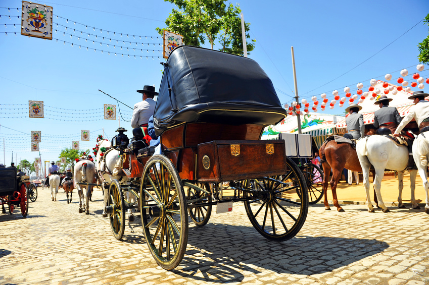 Coche de caballos, Feria de Sevilla, Espaa