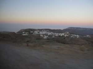 Amorgos; Hauptstadt Chora im Morgengrauen
