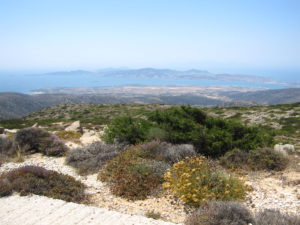 Paros; on the top