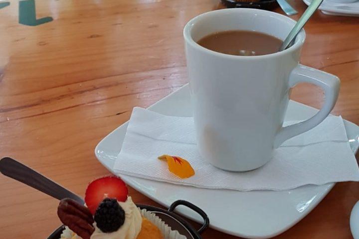 Pause - Kaffee und Rüeblichueche