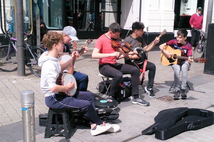 Irland Strassenmusiker