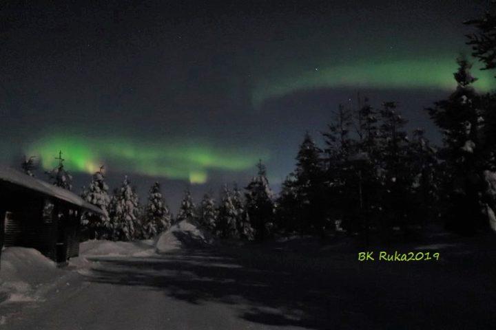 ruka aurora borealis nordlicht